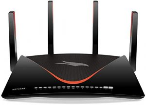 Netgear Nighthawk Pro Gaming Wlan Router (802.11 AD Wlan, 1,7 GHz Quad Core CPU, 7x Gigabit Lan, 1x 10 Gigabit Lan, Anti-Buffer-Bloat, QoS, Bandbreitenmanagement, Alexa kompatibel)