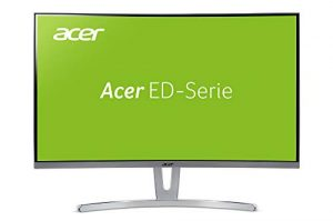 Acer ED273wmid 68,6 cm (27 Zoll) Multimedia Curved Monitor (Full HD, 1.920 x 1.080, 75hz, 4ms Reaktionszeit, ZeroFrame, DVI, HDMI, VGA, Audio Out) weiß