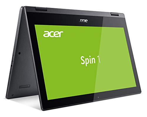 Acer Spin 1 (SP111-33-C56T) 29,5 cm (11,6 Zoll HD IPS) Convertible Notebook (Intel Celeron N4000, 2GB RAM, 32GB eMMC, Intel UHD, Multi-Touch, Win 10 Home im S Modus) schwarz