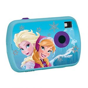 Lexibook Disney Frozen Die Eiskönigin Elsa Digitalkamera 1.3MP, LCD-Bildschirm, Video- und Webcam-Funktionen, batteriebetrieben, blau /violett, DJ017FZ