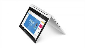 Lenovo Chromebook C330 2-in-1 Convertible Laptop, 11,6 Zoll HD (1366 x 768) IPS Display, MediaTek MT8173C Prozessor, 4GB LPDDR3, 64 GB eMMC, Chrome OS, 81HY0000US, Blizzard White
