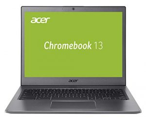 Acer Chromebook 13 (13,3 Zoll QHD IPS Multi Touch, Aluminium Unibody, 17mm flach, bis zu 10h Akkulaufzeit, beleuchtete Tastatur, 2x USB 3.1 (Type-C), HD Webcam, Google Chrome OS) Anthrazit