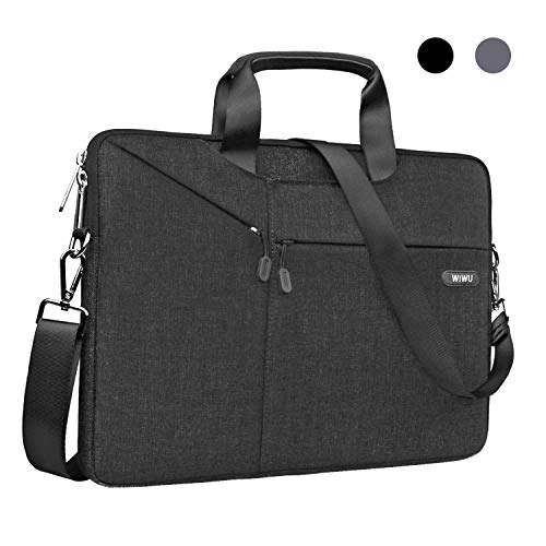15,6 Zoll Laptop Notebook Schultertasche, EKOOS 3 Way Business Aktenkoffer Tasche Hülle Sleeve Wasserdichte für Macbook ThinkPad Dell HP Acer ASUS Toshiba Samsung Chromebook (15,6, Schwarz)