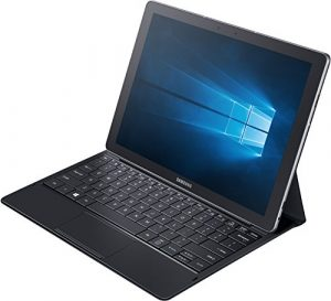 Samsung Galaxy TabPro S SM-W703 30,7 cm (12 Zoll) Tablet-PC (Intel Core m3-6Y30, 4GB RAM, 128GB SSD, Wifi, Win 10 Pro) schwarz inkl. Bookcover mit vollwertiger Tastatur sowie Touchpad