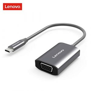 Lenovo USB-C auf HDMI VGA Adapter, Aluminium USB Typ C auf 4K HDMI 1080P VGA Konverter für 2016/2017 MacBook Pro, ChromeBook Pixel, Dell XPS, Thunderbolt 3 Co VGA Grey