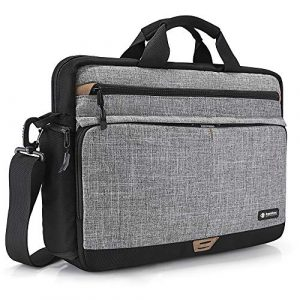 tomtoc Laptoptasche 15,6 Zoll Schultertasche Notebooktasche Umhängetasche Schutzhülle für 15″ / 15.6″ Acer HP Dell ASUS Lenovo Samsung Chromebook Laptop, Wasserdicht Laptop Messenger Bag Sleeve Case