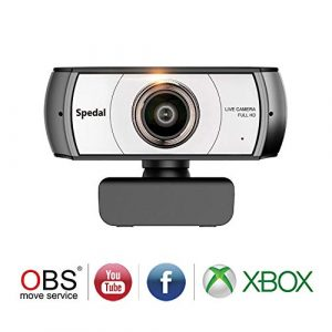 Spedal Full HD Webcam 1080p, Live Streaming Webcam, 120 Grad Ultra Weitwinkel, Computer Laptop Kamera für Xbox OBS XSplit Skype Facebook, kompatibel für Mac OS Windows 10/8/7
