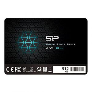 Silicon Power SSD 512GB 3D NAND A55 SLC Cache Performance Boost 2,5 Zoll SATA III 7mm (0,28″) Interne SSD