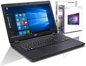Acer ES1 (17,3 Zoll) Notebook (Intel N3700 Quad Core 4×2.40 GHz, 8GB RAM, 1000 GB, Intel HD Graphic, HDMI, Webcam, USB 3.0, WLAN, DVD-Brenner, Windows 10 Professional 64-Bit) #4982