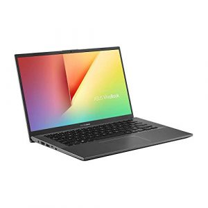 Asus VivoBook 14 F412UA (90NB0KP2-M02130) 35,5 cm (14 Zoll, HD, matt) Notebook (Intel Core i3-7020U, 4GB RAM, 256GB SSD, Intel UHD-Grafik 620, Windows 10) slate grey