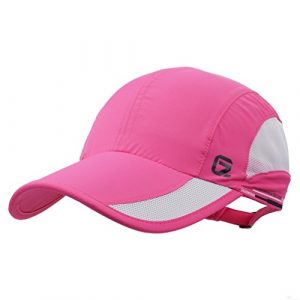 GADIEMKENSD Quick Dry Sports Hat Lightweight Breathable Soft Outdoor Run Cap (Classic up, DeepPink)