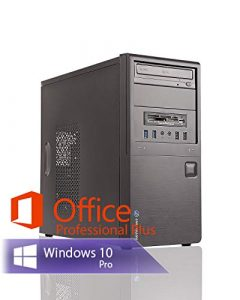 Ankermann PC Intel i5 4570 4×3.20GHz HD Graphics 8GB RAM 240GB SSD 1TB HDD Windows 10 PRO Leise W-LAN Office Professional Plus 2016 64bit (Key)