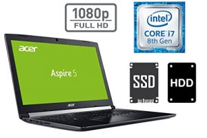 NOTEBOOK ACER A517 – CORE i7 – 16GB DDR4-RAM – 1000GB SSD + 1TB HDD – WINDOWS 10 PRO – 44cm (17.3″) FULL HD DISPLAY MATT