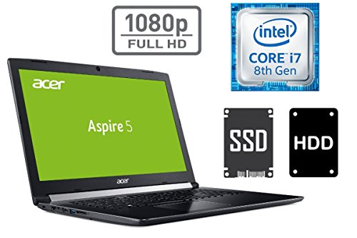NOTEBOOK ACER A517 - CORE i7 - 16GB DDR4-RAM - 1000GB SSD + 1TB HDD - WINDOWS 10 PRO - 44cm (17.3