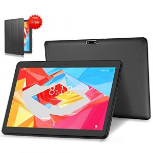 4G LTE Tablet PC 10 Zoll Android 9.0 Tablet LNMBBS, 64GM eMMC,4GB RAM, Quad Core, WiFi/Bluetooth/GPS/OTG(schwarz)